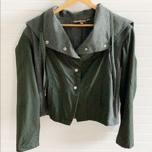Princess Vera Wang Snap Front Hooded Jacket